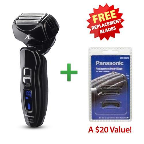 Panasonic ESLA93 Mens Nanotech Wet / Dry Shaver With Free Replacement Blades