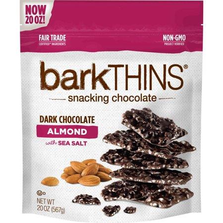 Product of barkTHINS Dark Chocolate Almond With Sea Salt, 20 oz. [Biz (Dark Chocolate Turbinado Sea Salt Almonds Costco)