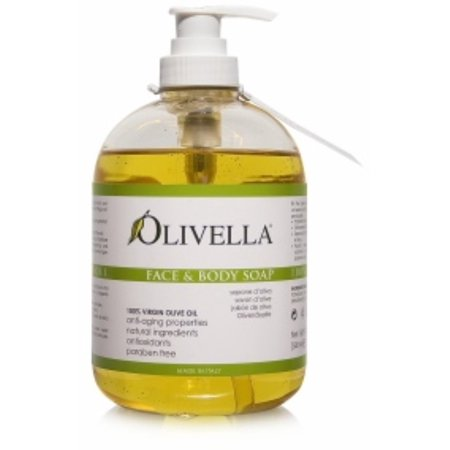 3 Pack - Olivella Virgin Olive Oil Face and Body Liquid Soap  16.9 oz