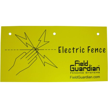 Field Guardian Electric Fence Warning Sign