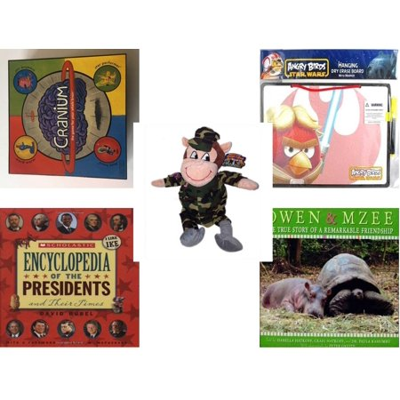 Children's Gift Bundle [5 Piece] -  2002 Cranium  - Angry Birds Star Wars Dry Erase Board w/ Marker  - 2014 Limited Collector Series The Adventures of Georgie & Gracy  Georgie Monkey 19