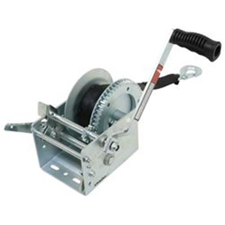 JIF Marine W3200D 3200 lbs Trailer Winch 2-Speed Solid Gear & Winch Strap