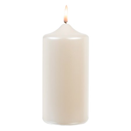 Pillar Candle - White Pearlized - 3 x 6 inches