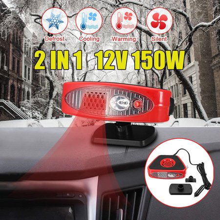 All In One Auto Car Cooler Heater Dryer Fan,12V 150W Portable Defroster Demister Warmer Efficient Heat Dissipation Design