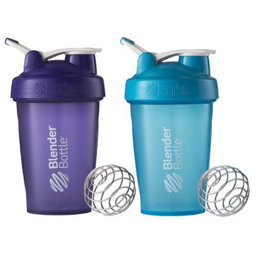 Blender Bottle 2-Pack Classic 20 oz. Shaker w/ Loop Top - Purple & Aqua