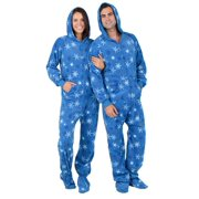 Footed Pajamas - Its A Snow Day Adult Hoodie Fleece Onesie