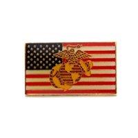 US Marine Corps USMC EGA Insignia USA Flag Lapel Hat Pin Military PPM484 (1 pin)