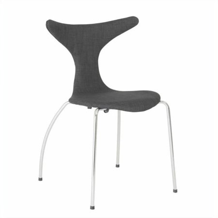 Eurostyle Frida  Dining Chair in Dark Gray Fabric - image 2 of 6