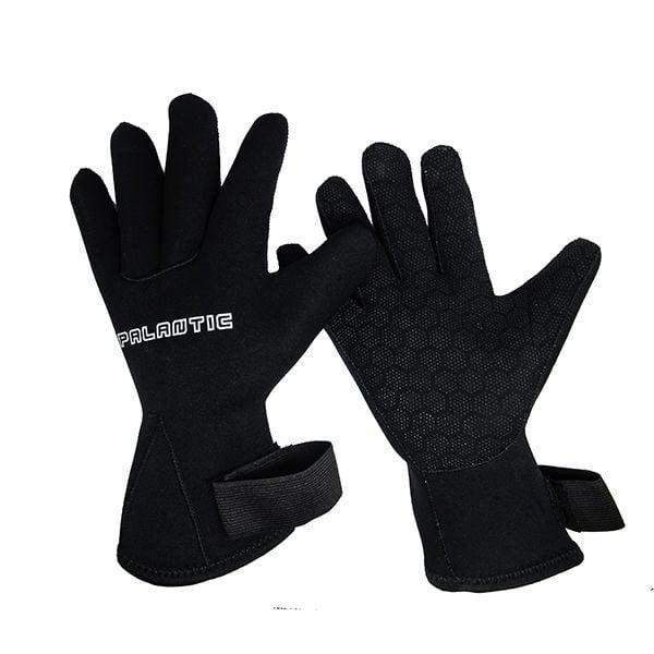 Palantic Black 3mm Neoprene Gloves with Extra Warmth Titanium Coating, Medium by Scuba Choice