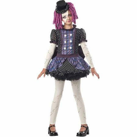 Broken Doll Child Halloween - Girls Broken Doll Costume