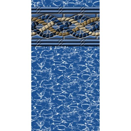 12-Foot-by-24-Foot Rectangular Beaded Mystri Gold Above Ground Swimming Pool Liner - 4-Foot Flat Bottom - 20 Gauge