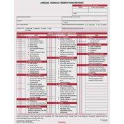 JJ KELLER 200-FS-C2 Vehicle Inspection Report, w/Carbon