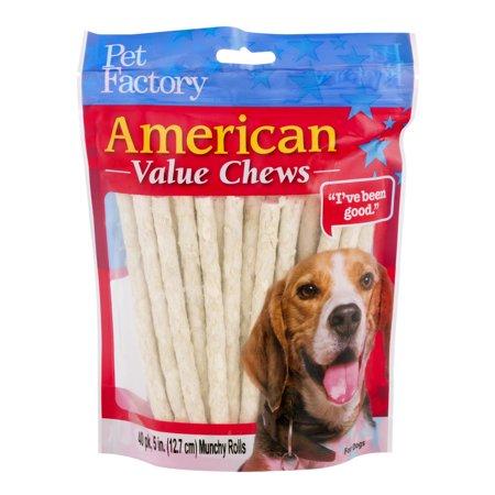 Pet Factory American Value Chews Munchy Rolls - 40 PK, 40.0 PACK