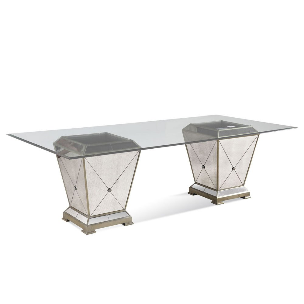 Bassett Borghese 44x96 Rectangular Double Pedestal Dining Table by