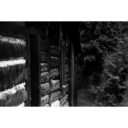 Canvas Print Black and White Old House House The Wooden Building Stretched Canvas 10 x 14 ()