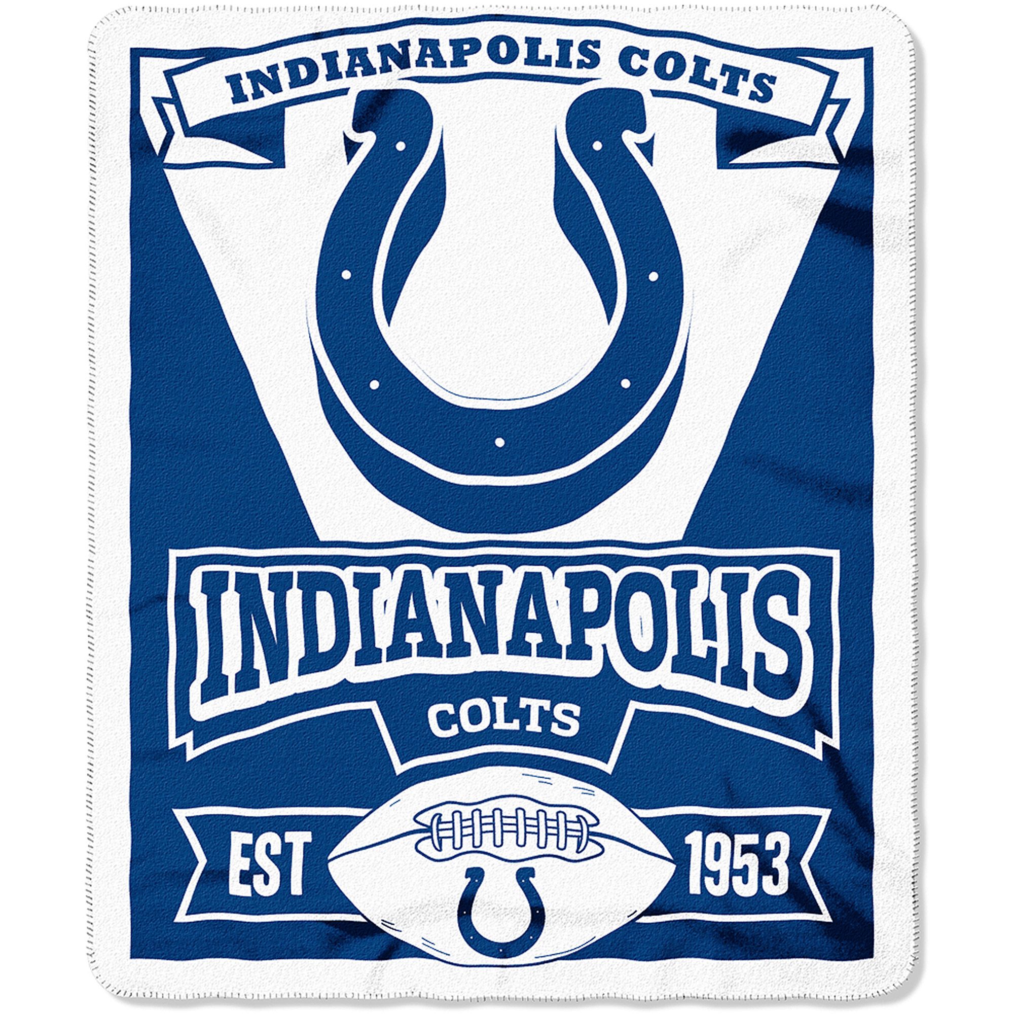 """NFL Indianapolis Colts 50"""" x 60"""" Fleece Throw"""