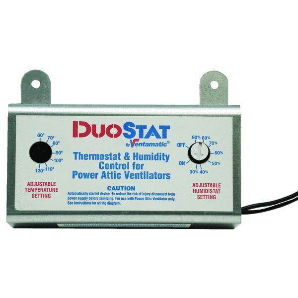 Ventamatic Power Attic Vent Thermostat and Humidistat