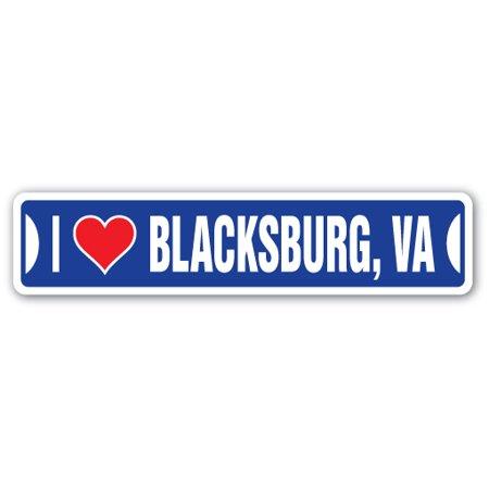 I LOVE BLACKSBURG, VIRGINIA Street Sign va city state us wall road décor gift](Party City Va Beach)