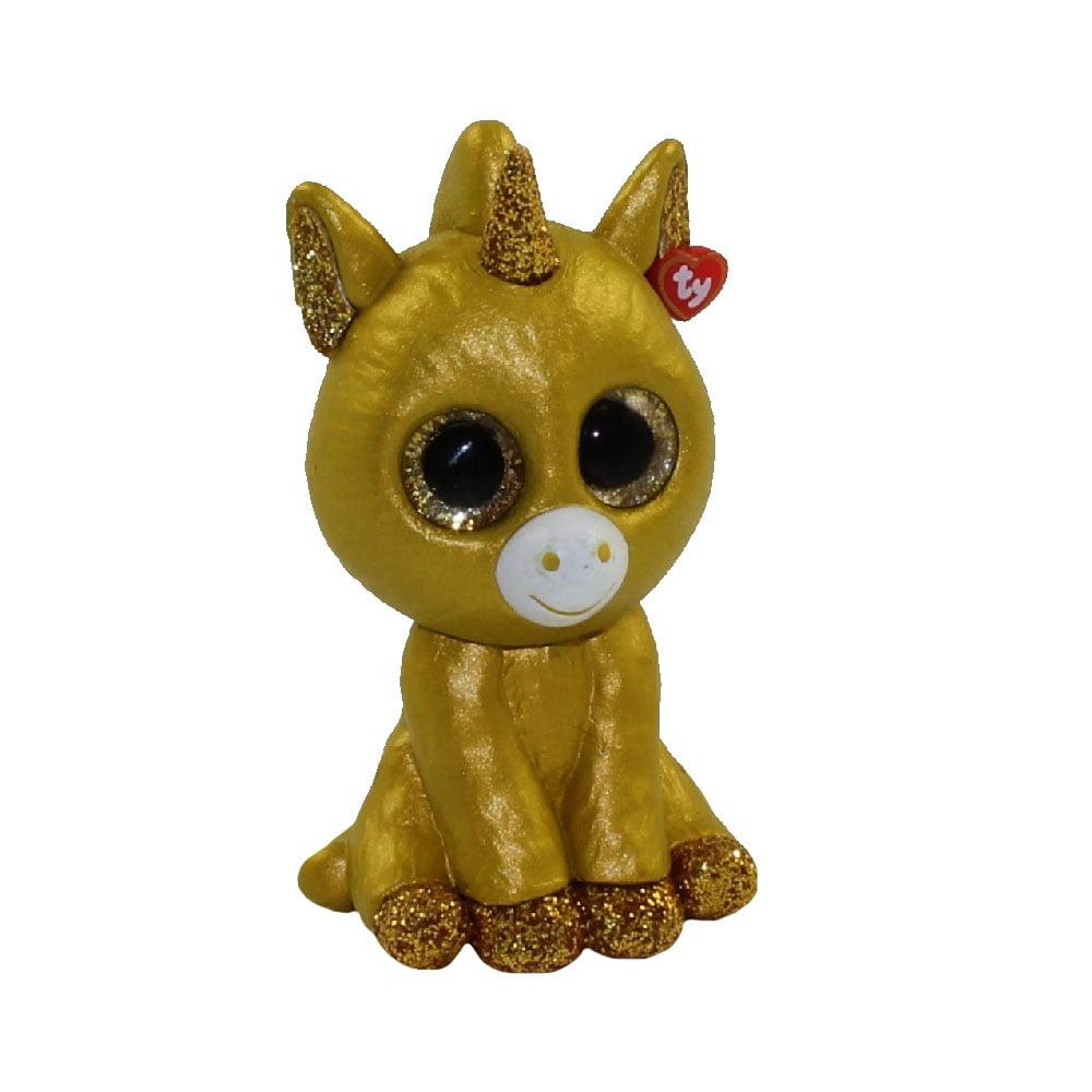 TY Beanie Boos - Mini Boo Figures Series 2 - GOLDEN UNICORN (2 inch) *Rare Chase*