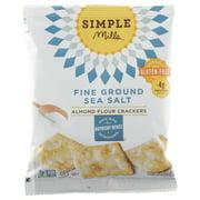 (24 Pack) Simple Mills, Crackers, Sea Salt Almond Flour, 1.4 Oz
