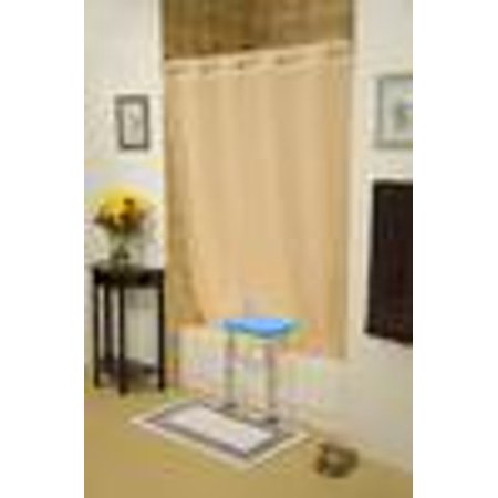 BenchMate Split Shower Curtain for Bath Transfer Benches Premium Hookless Quick-Attach System Helps Keep Water Off Floor