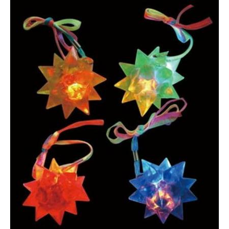 24 Light Up LED Flashing Crystal Star