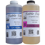 CRYSTAL CLEAR EPOXY RESIN, 1/2 Gallon Kit, FOR RIVER TABLES, LIVE EDGE TABLES, BAR TOPS AND COUNTERTOPS, 1:1 Ratio, Fiberglass Coatings, (Difference Between Epoxy Resin And Fiberglass Resin)