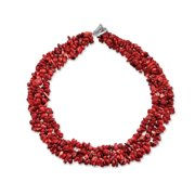 Chunky Onyx Lapis Aventurine Red Turquoise Gemstone Chips Cluster Multi Strand Statement Bib Collar Necklace For Women