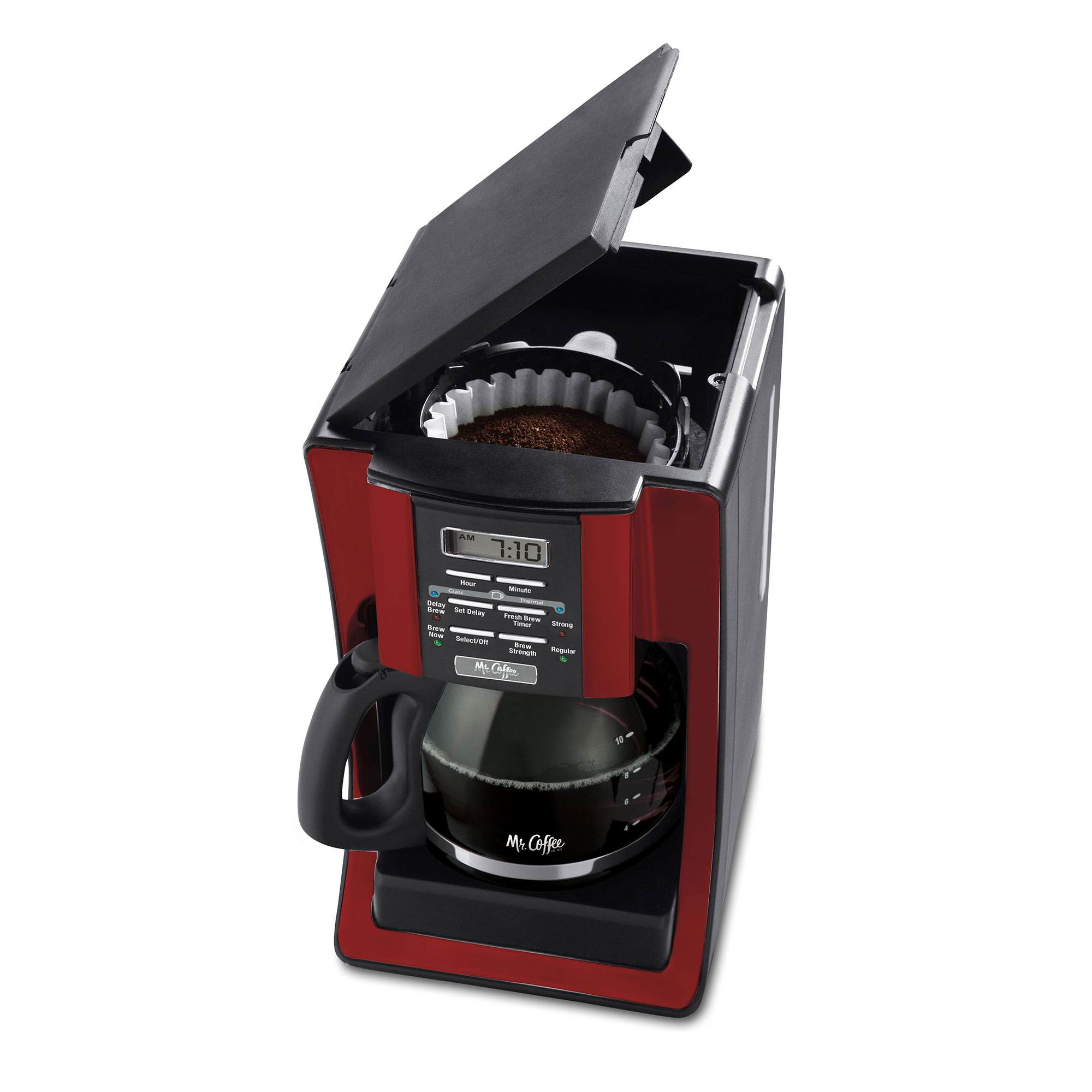 Mr Coffee Advanced Brew 12 Cup Programmable Red Coffee Maker 1