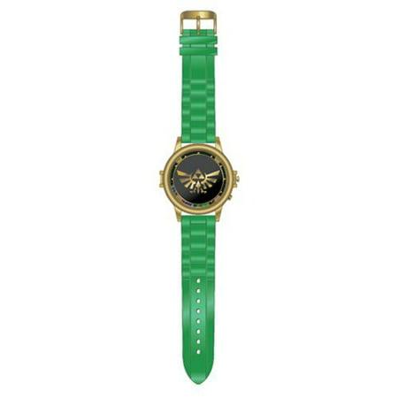 Legend of Zelda The Link Triforce Symbol Logo Spinner Watch Green Rubber Band ()