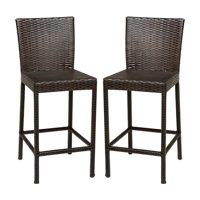 TK Classics Barbados Wicker Patio Bar Stools
