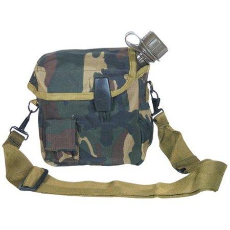 Fox Outdoor 53-24 CAMO 2 Quart Canteen Cover - Shoulder Strap, Camo