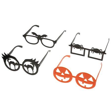 4pcs Funny Novelty Glasses Frame Eye Mask Halloween Masquerade Cosplay Makeup Party - Cat Eye Makeup Tutorial Halloween