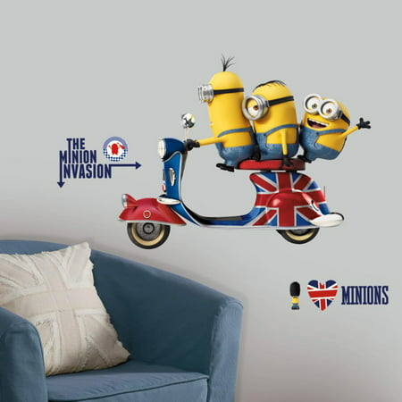 Roommates Minions The Movie Peel and Stick Giant Wall - Giant Minion