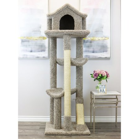 (New Cat Condos 66'' Solid Wood Cat Tree)