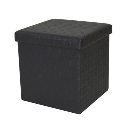 Incredible Home Source Andersen Black Woven Small Folding Storage Ottoman Walmart Com Ibusinesslaw Wood Chair Design Ideas Ibusinesslaworg