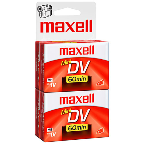 Maxell 60-min. MiniDV Tapes for Camcorders, 4-Pack