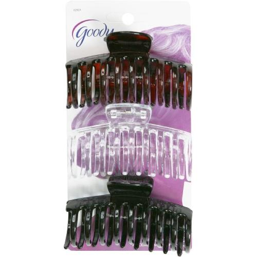 Goody Womens Classic Medium Spiral Claw Clip 3 Count Color May Very Item #32921