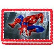 Fantastic Spiderman Edible Frosting Cake Topper 1 4 Sheet Walmart Com Funny Birthday Cards Online Elaedamsfinfo