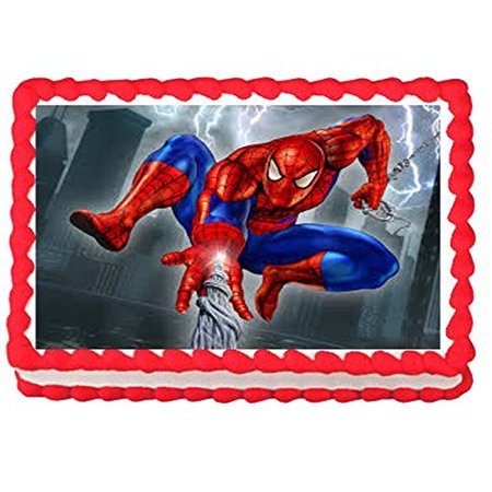 Spiderman Edible Frosting Cake Topper, 1/4 Sheet