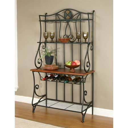 Bakers Rack in Espresso and Oak Finish ()