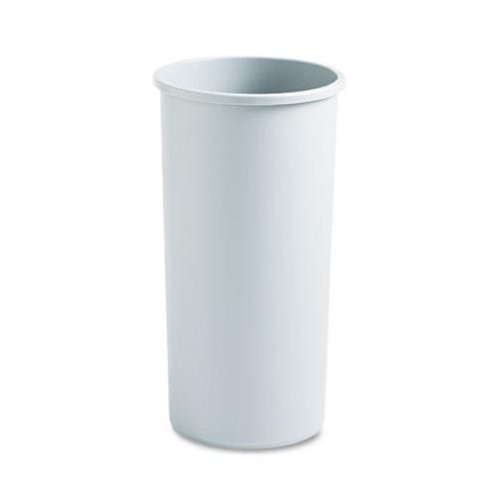 Rubbermaid Commercial Round Gray Plastic Untouchable Waste Container, 22 gal