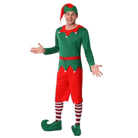 Men's Santa's Helper Costume (Jolly Green Santa's Helper Christmas Costumes)
