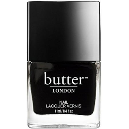 Butter London for Women 3 Free Nail Lacquer, Union Jack Black, 0.4 oz