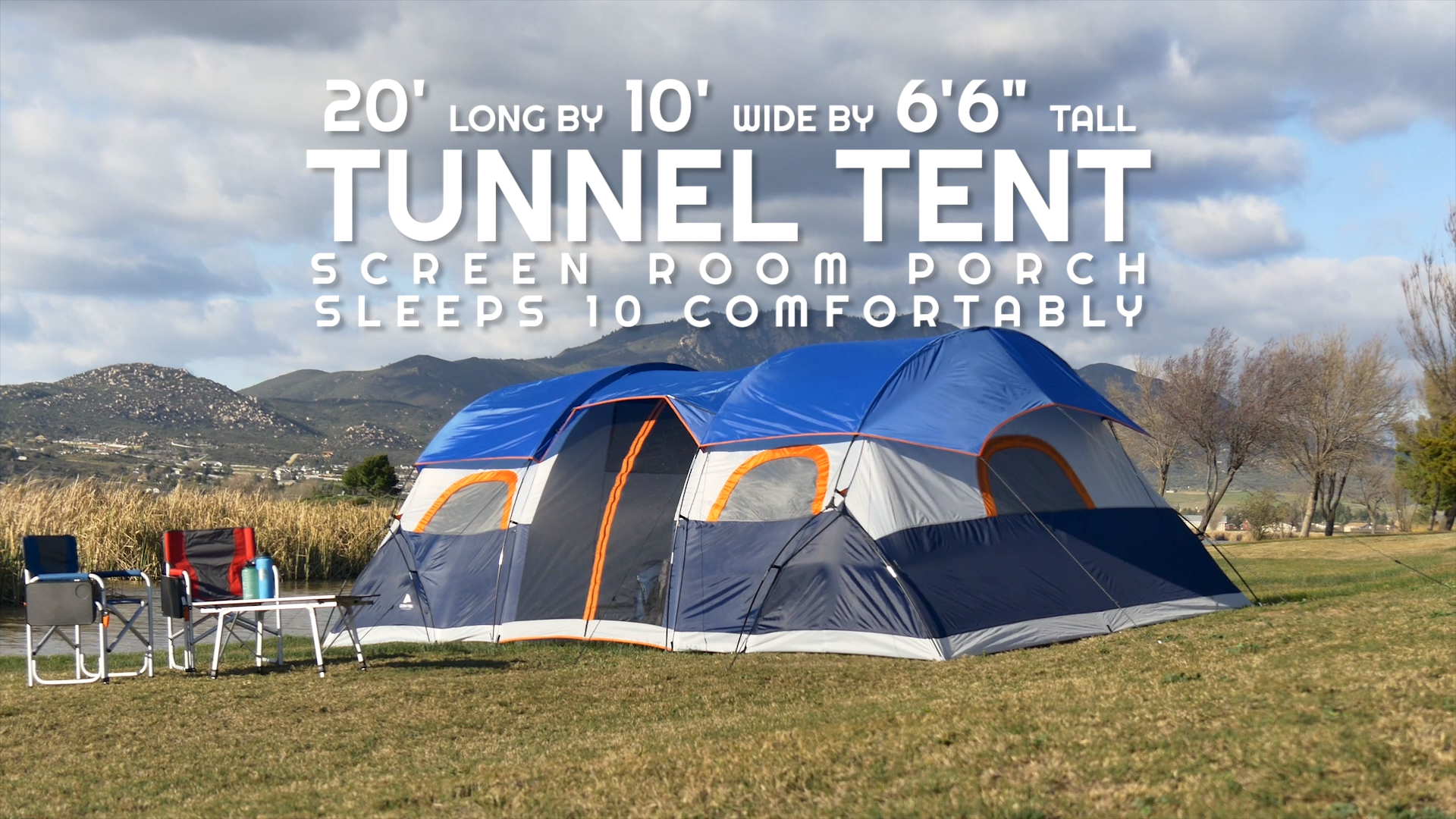 Ozark Trail 20u0027 x 10u0027 Tunnel Tent with Screen Porch Sleeps 10 Image  sc 1 st  Walmart & Ozark Trail 20u0027 x 10u0027 Tunnel Tent with Screen Porch Sleeps 10 ...