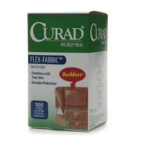 Curad Flex-Fabric Adhesive Bandages, Assorted - 100 Ea, 2 Pack