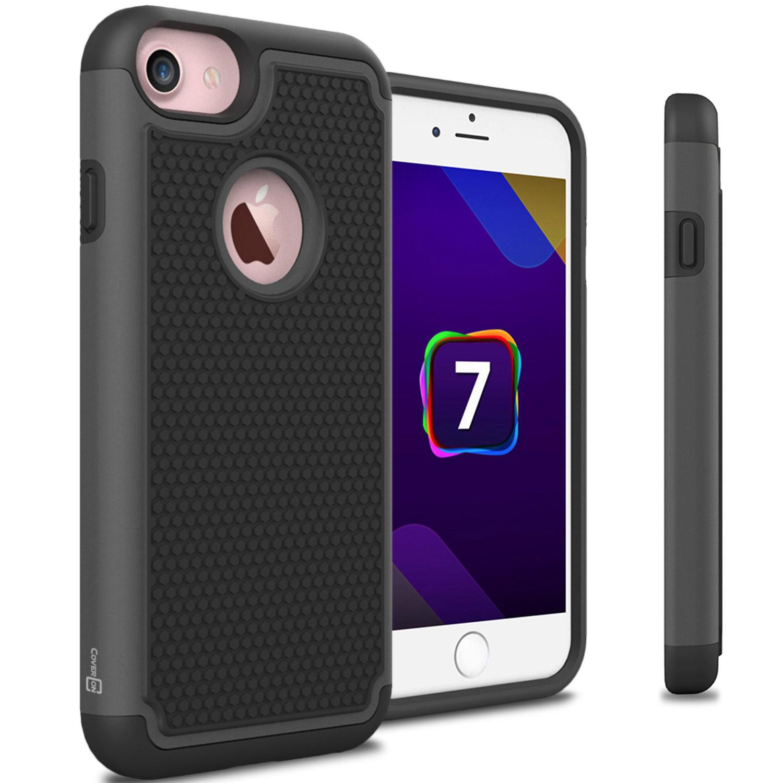 CoverON Apple iPhone 7 / 8 Case, HexaGuard Series Hard Phone Cover