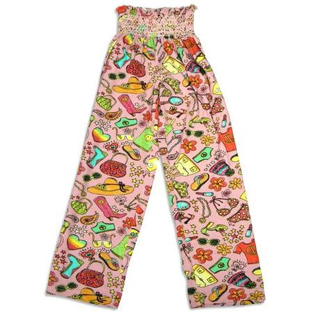 Large Pajama Lounge Pants - Bee Posh Girls and Ladies / Womens Cozy Knit Pajama Lounge Sleep Pant, 25539 pink sasha / Large