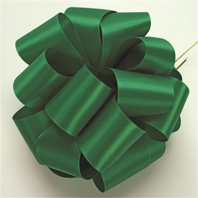 Offray 604588 0. 62 inch Double Face Satin Ribbon - 100 Yards, Emerald - No.  3