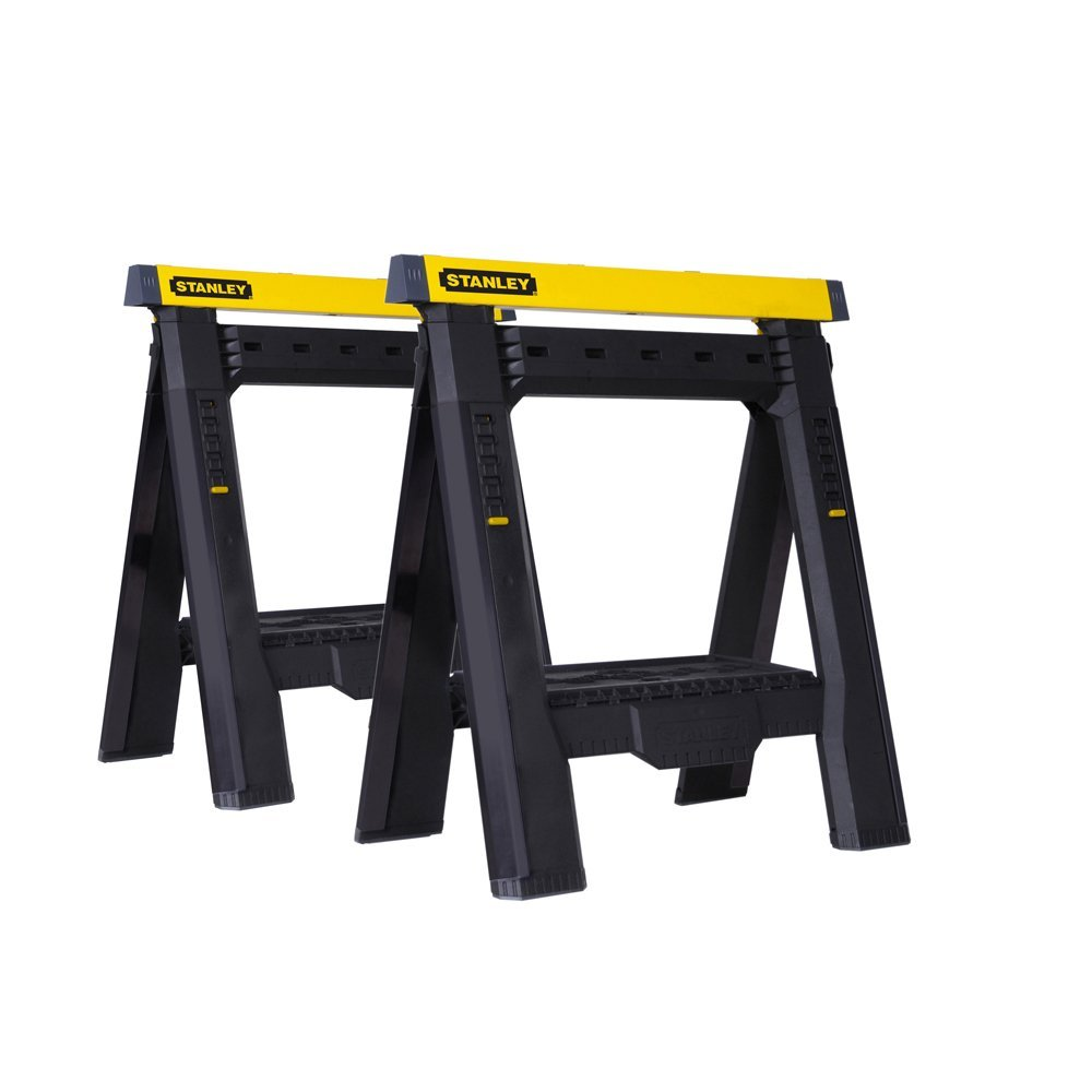Stanley 2-Way Adjustable Sawhorse, 1,000-Pound Capacity, 2 Per Pack by Stanley